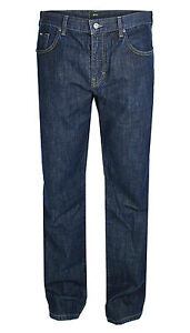 Hugo-Boss-Black-Jeans-KANSAS-regular-fit-blu-scuro-Slavati