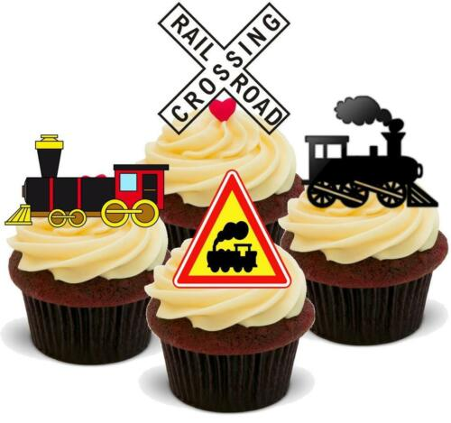 Train Mix 12 comestible stand up PREMIUM GAUFRE gâteau Toppers