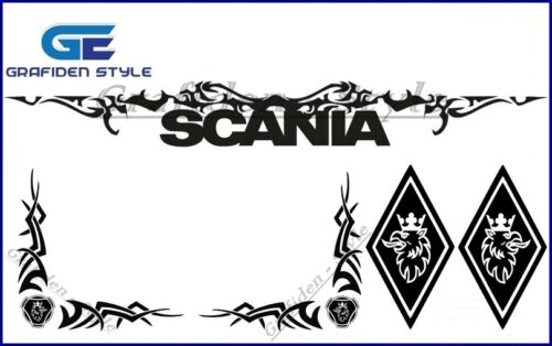 Decal !//! Fahrerhaus Aufkleber 1 Set SCANIA 5 Stück Sticker