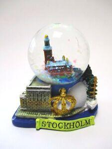 Schneekugel-Stockholm-Krone-Rathaus-Schweden-Sweden-Snowglobe-Souvenir