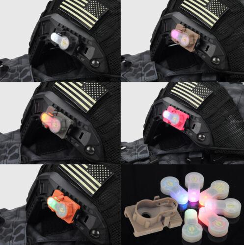 FMA Helmet Accessory S-LITE Rail Guide Rail Mount 1913 Strobe Light 6 Colors LED