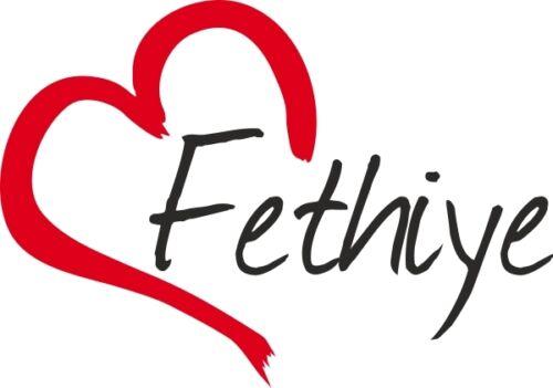 """Voiture autocollant /""""Fethiye/"""" sticker ville turquie environ 9x13cm contour découpé"""
