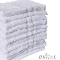 50 White 100% Cotton Hotel Wash Cloths 12x12 Washcloth 13oz Bright White on sale