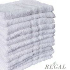 10 NEW WHITE 100% COTTON HOTEL WASH CLOTHS 12X12 WASHCLOTH 13oz  BRIGHT WHITE
