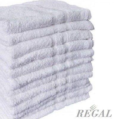 1 DOZEN WHITE 100% COTTON HOTEL WASH CLOTHS 12X12 WASHCLOTH 13oz  BRIGHT WHITE
