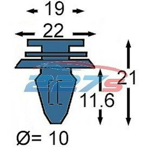 Clips Bordure 8P0868243 2004-2012 10x Audi A3 Porte Carte Clips