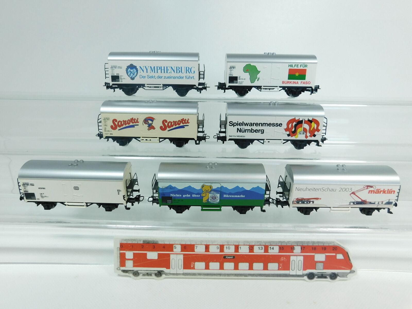 BG562-1  7x Märklin H0 AC Güterwagen Güterwagen Güterwagen DB  SarottiBärenmarkeNymphenburg etc, s.g  | Bequeme Berührung  a5afbb