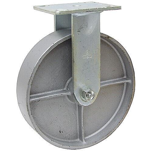 "6/"" x 2/"" Rigid Steel Plate Caster 1-1781-R"