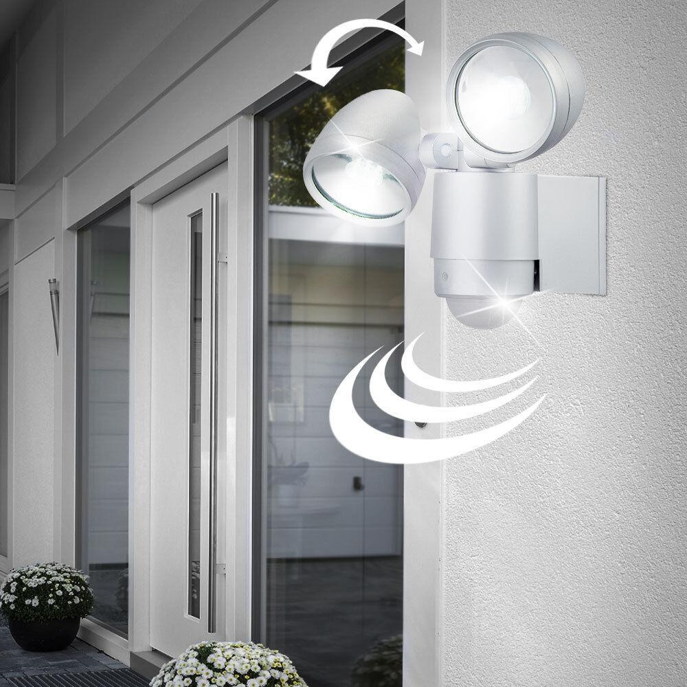 Beleuchtung Garage Außen Lampe Bewegungsmelder Wand Strahler LED Einbruchschutz