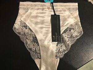 Knickers M/&S Rosie for Autograph UK 10 SILK /& LACE Purple Ivory RRP £12.50 BNWT