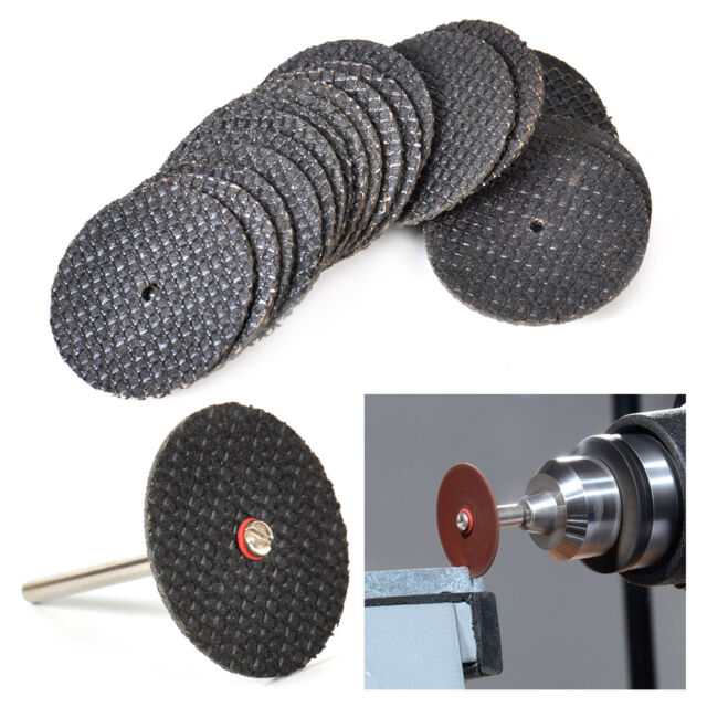 20pcs 32mm Resin Cutting Wheel Disc + 3mm Mandrel Fits for Rotary Tools