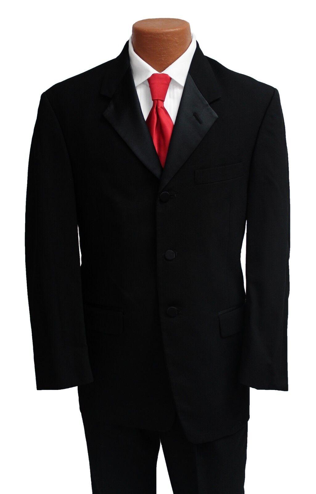 41L Black Halloween Costume Tuxedo Jacket Butler Zombie James Bond 007 Trump