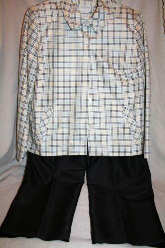 Liz Claiborne 100% Silk Pant Suit (Size 14P)