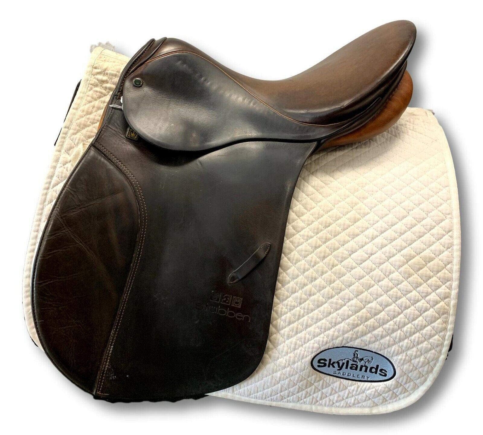 Price Dropped    Used Stubben Siegfried VSD Saddle  Diuominiione  17''  Marronee