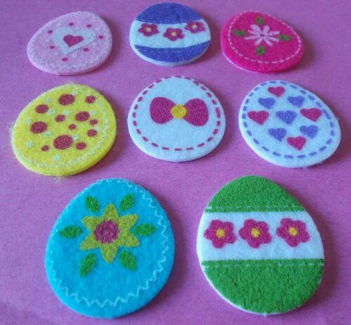 Pack 8 gai feutre œuf de Pâques en forme de stickers
