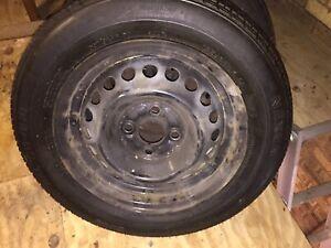 Honda Jazz 2003 Steel Wheel And Tyres Set Of 4
