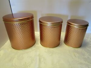 Image Is Loading Set 3 Canisters Kitchen Counter Lidded Stainless Steel