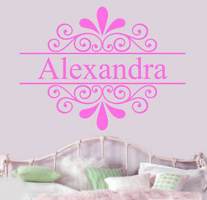 Details about Personalised Girls Name Wall Art Vinyl Stickers Bedroom  Transfers Murals Decals