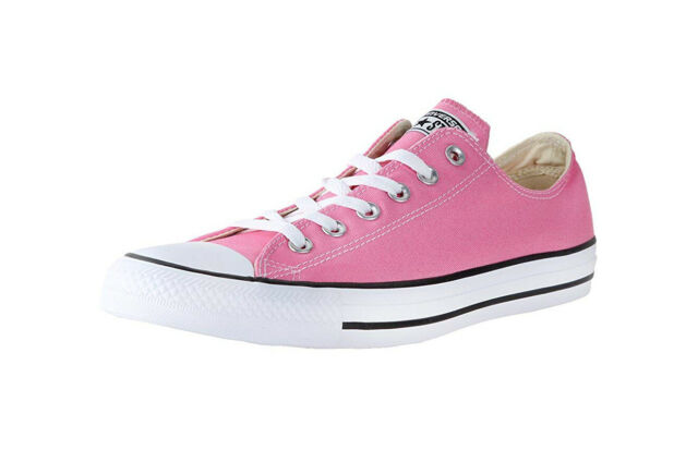 CONVERSE Men Size All Star Shoes Low Top Fashion Sneakers Canvas Pink Medium