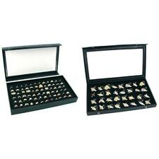 Jewelry Box Display Case With Ring Foam Amp Clear Top Case With Earring Tray Kit 4 Pcs