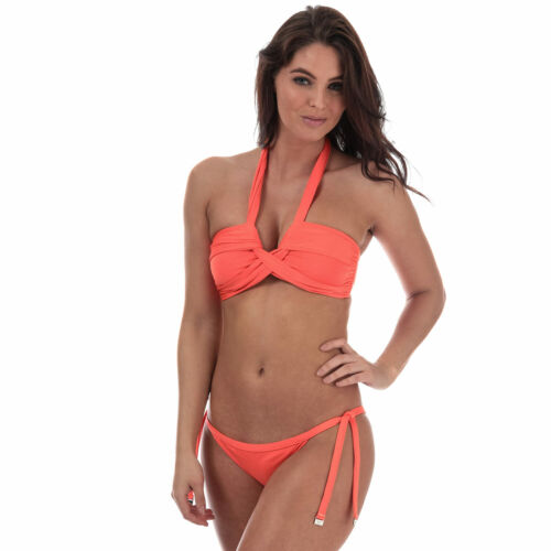 Womens Seafolly Brazilian Tie Side Bikini Bottoms In Nectarine