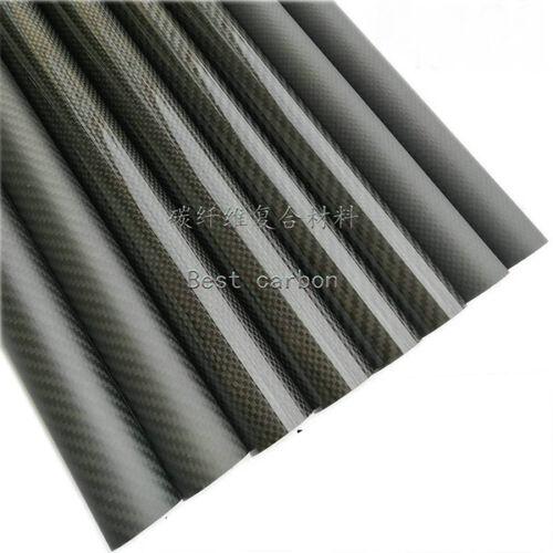 2pcs 3k Black Carbon Fiber Tube 21 22 23 24 25 26 27 28 29 30 32mm X 500mm OD