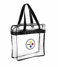 Pittsburgh Steelers Clear Plastic Zipper Tote Bag NFL 2016 Stadium Approved