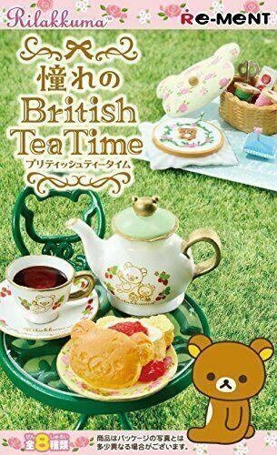 Re-ment SAN-X Rilakkuma Bear Tea Time Desset and Cake Shop Full set of 8