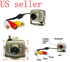 Mini Pinhole Color Camera CCTV Night vision AV pickup 6 IR LED 380 TV Lines NEW