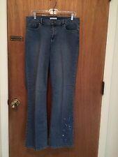 NWT Liz Claiborne (Crazy Horse) Denim Jeans, Size 10, Boot Cut