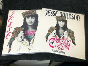 """Jesse Johnson feat. Sly Stone - Crazy 12"""" Promo (2 Different Versions - A&M 1986"""