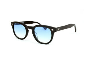 Occhiali-da-sole-X-LAB-8004-stile-moscot-nero-azzurro-gradient