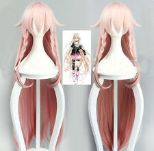 VOCALOID3 IA Fashion Light Pink Gradient Long Cosplay Costume Wig + Free Wig Cap