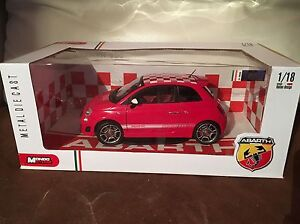 Mondo Motors 1:18 Fiat Abarth 500 Red and White Checkers ...