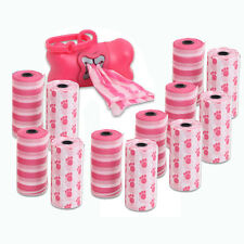 12 Rolls Pet Dog Cat Poop Scoopers Waste Bags w Dispenser Holder 240ct Bag WH PK