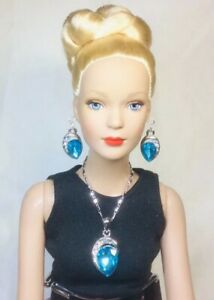 Blue-Rhinestone-Silver-Necklace-amp-Earrings-fits-Barbie-to-Tonner-Tyler-Doll-HH25