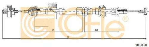 Cavo comando Comando frizione COFLE 92.10.3158 VW
