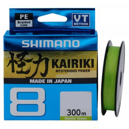 Verde Shimano Kairiki 8 300m Filo da Pesca Intrecciato