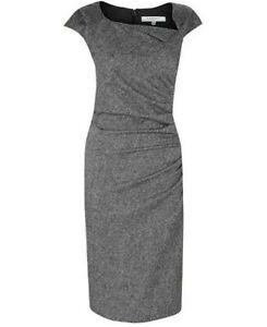 LK-Bennett-Grey-Davina-Dress-Pencil-Tweed-Wool-Worn-By-Kate-Middleton-UK-10-195