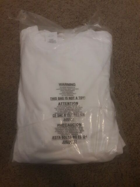 [BRAND NEW] Hanes Men's White T-Shirt (MEDIUM, 4 Pack)
