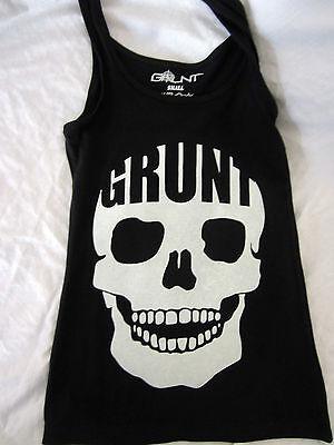 Grunt Company Skull women's black Tank top stretch Guns USA USMC Deadly MEDIUM