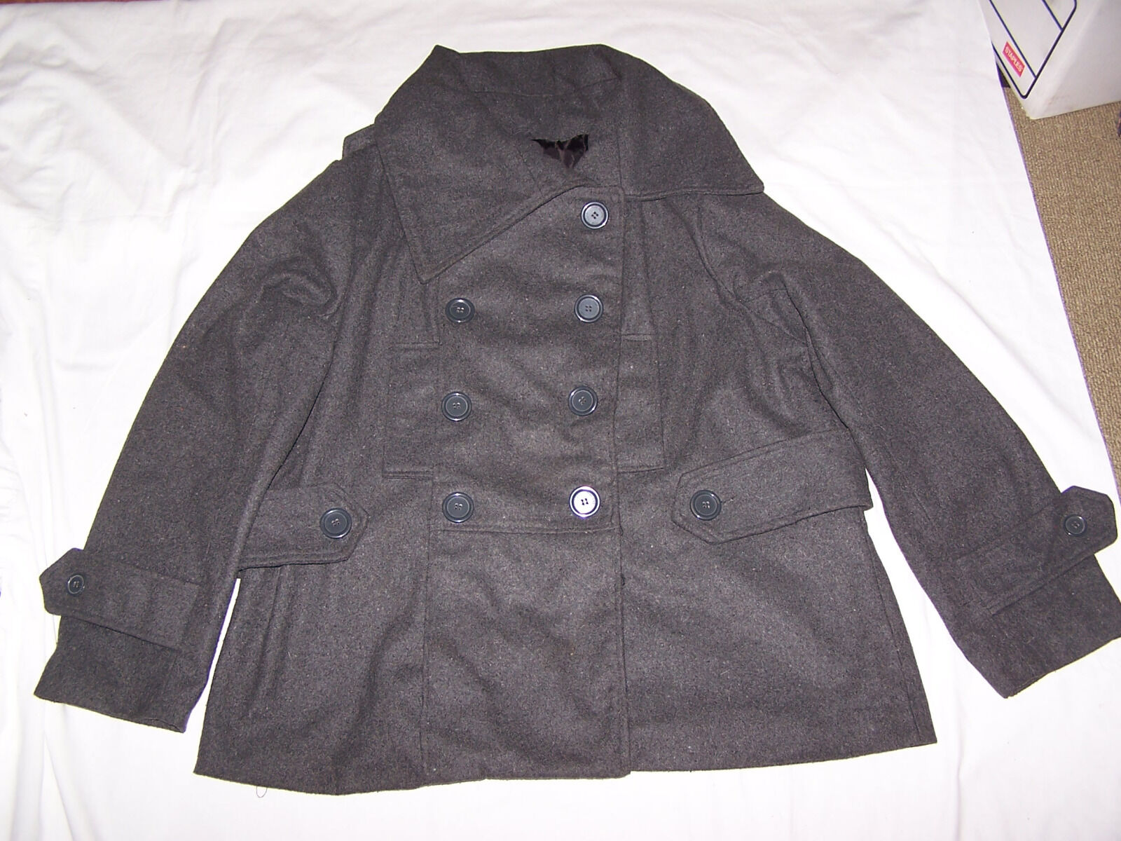 MISS LONDON Dark GREY COAT Size 2XL junior, NEW