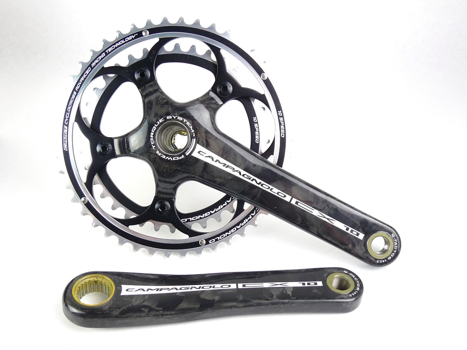Campagnolo CX Carbon Crankset 175mm 46 36 10 Speed Cyclocross NEW