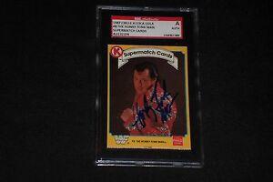 HONKY TONK MAN 1987 CIRCLE K WWF SIGNED AUTOGRAPHED CARD #8