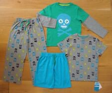 BNWT M&S BOYS 1.5-2yrs PYJAMAS pj's 4x PART Cotton Rich Design Sleepwear