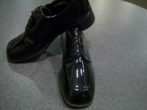 Mens Dress Tuxedo shoes -  faux patent leather square toe oxford - Nuvo styling