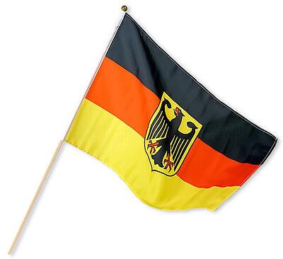 2/4/8/16 x Deutschland Stabfahne Fanartikel WM EM 30x45cm Fahne Fußball Flagge