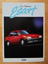 FORD Escort Mk5 brochure 1990 1991 - CL XLD CLX Ghia S Cabriolet - Dutch