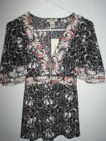 Vertigo Paris Stretchy Blouse Large Retail $160