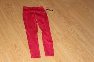 TSLA Womens High Waist Yoga Pink Pants/Leggings with Pockets  Size S    NWT